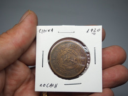 REPUBLIC OF CHINA. 10 CASH 1920 - China