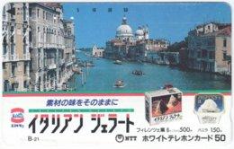 JAPAN L-123 Magnetic NTT [110-011] - Landmark, Venice - Used - Japón