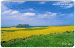 SOUTH KOREA A-659 Magnetic Telecom - Landscape, Meadow - Used - Korea (Zuid)