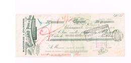 Minoteries à Cylindres Gillard,Valenciennes à Gillerot (Louvignies/Belgique) Timbres Fiscaux Belges - Chèques & Chèques De Voyage