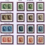 Mooi Lot 20 Getande  Zegels Van N°13 Tot 16B  OBP +/- 515 € Catalogus 2009 - Belgium