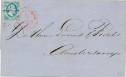 Nederland - 1862 - 5 Cent Willem III, 1e Emissie Op Omslag Lokaal Gebruikt Amsterdam - Periode 1852-1890 (Willem III)