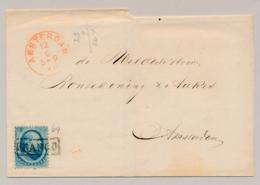 Nederland - 1866 - 5 Cent Willem III, 2e Emissie Op Omslag Lokaal Gebruikt Amsterdam - Periode 1852-1890 (Willem III)