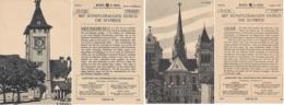 21 MONO-KARTEN - Lithografien Auf Halbkarton - Historische Architektur Aus Der Schweiz 1908 - Architektur