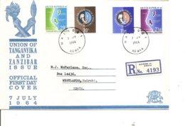 Zanzibar Et Tanganiyka ( FDC De 1964 à Voir) - Zanzibar (1963-1968)