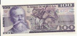 MEXIQUE 100 PESOS 1982 UNC P 74 C - Mexico