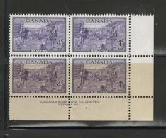 "CANADA, 1949, ""HALIFAX BICENTENARY"" #283, MNH, P.B.1 - Plate Number & Inscriptions"