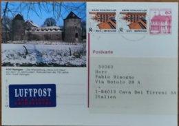2002 Germany  - Ratingen Haus Zum Haus - Air Mail (label) Postcard To Italy - [6] República Democrática