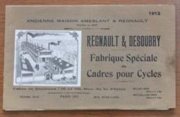 Catalogue Des Etablissements Regnault Et Desoubry, Fabricant De Cadres à Paris, 1912 - Cyclisme