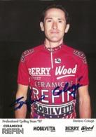 CARTE CYCLISME STEFANO COLAGE SIGNEE TEAM REFIN 1997 - Cycling