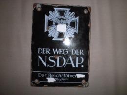 Plaque Allemande Nsdap Ww2 - 1939-45