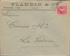 FLANDIN & CIA. BUENOS AIRES AÑO 1897 SOBRE CIRCULADO A SEÑORES CUNEO HERMANOS LA VICTORIA ENTRE RIOS ARGENTINA VOIR SCAN - Cartas