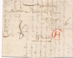 Nederland / België - 1768 - Complete EO Vouwbrief Van Dordrecht Met H In Cirkel Naar Ghendt - Nederland