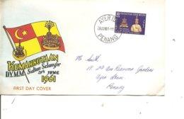 Selangor ( FDC De 1961 à Voir) - Selangor