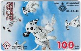 THAILAND F-270 Hologram TOT - Cinema, Walt Disney, 102 Dalmatians - 032K - Used - Thailand