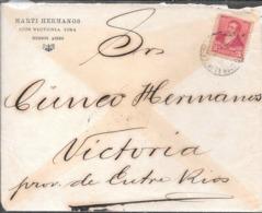 MARTI HERMANOS BUENOS AIRES AÑO 1895 SOBRE CIRCULADO A CUNEO HERMANOS A VICTORIA ENTRE RIOS VER FOTOS - Cartas