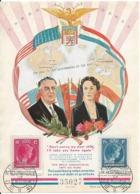 """Maximaphilie : """" En Souvenir De FR.D. ROOSEVELT"""". 2 Timbres, à 70 C Et 1,75 F. Luxembourg, Le 10/09/1945. - Grand-Ducal Family"""