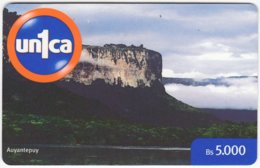 VENEZUELA A-988 Prepaid Un1ca - Landscape, Mountain - Used - Venezuela