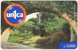 VENEZUELA A-989 Prepaid Un1ca - Landscape, Garden - Used - Venezuela