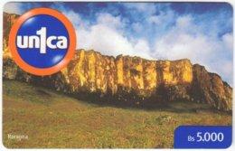 VENEZUELA A-991 Prepaid Un1ca - Landscape, Mountain - Used - Venezuela