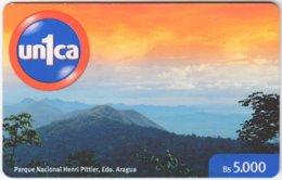 VENEZUELA A-995 Prepaid Un1ca - Landscape, Mountain - Used - Venezuela