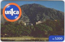VENEZUELA A-996 Prepaid Un1ca - Landscape, Mountain - Used - Venezuela