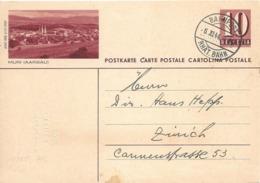 """PK 158  """"Muri (Aargau) 6040 BRB 3.10.1939""""           1944 - Entiers Postaux"""
