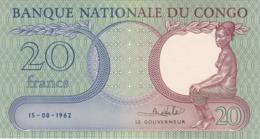 CONGO, Democratic Republic, 20 Francs - Democratic Republic Of The Congo & Zaire