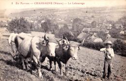 EN MORVAN : CHASSAGNE ( NIÈVRE ) - LE LABOURAGE - ATTLAGE DE BOEUFS  ~ 1910 - '915 (ad257) - Other Municipalities