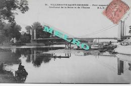 CPA - Villeneuve Saint Georges - Pont Suspendu Et  Confluent De La Seine Et De L Yerres - Villeneuve Saint Georges