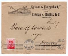 1923 YUGOSLAVIA, SERBIA, BELGRADE TO ZAJECAR, KUZMAN S NIKOLIC, ADVERTISING - Serbia