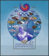 B3938 Hungary Olympic 1988 Seoul Sport Tennis S/S MNH - Blocks & Kleinbögen