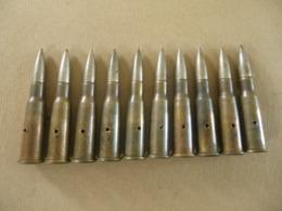 10 Cartouches 8 Mm Lebel Datées 37 Et 38 (neutralisées) - Equipo