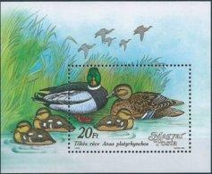B3939 Hungary Fauna Animal Bird Duck S/S MNH - Blocks & Kleinbögen