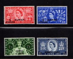 KUWAIT    1953    Coronation    Overprint    Set  Of  4    MH - Kuwait