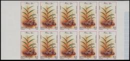 ST.VINCENT 1985 Herbs Spices Ginger $3 MARG:2 IMPERF.10-BLOCK - Heilpflanzen