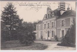 LA FLECHE (72) : CHATEAU DU PETIT RUIGNE - PHOTO J. BOUVERET LE MANS - ECRITE EN 1917 - CLICHE PEU COURANT ? - 2 SCANS - - La Fleche