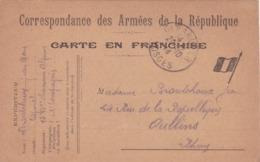 Carte En Franchise Militaire - 1 Drapeau Avec Soldat Au Verso - Cartes De Franchise Militaire