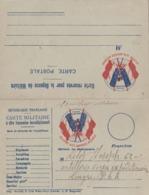 Carte Double En Franchise Militaire - 2 Drapeaux - Imp. Mendel Cité Waux Hall - Cartes De Franchise Militaire