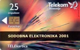 Slovenia, Slovenija, Slowenien, Telekom Slovenije - TS413. Rare Phonecard - Modern Electronic. Only 997 Pieces Issued. - Slowenien