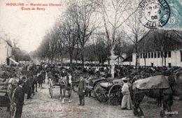 MOULINS (Allier) Marché Aux Chevaux Cours De Bercy - Trèd Beau Plan- Belle Animation - FOIRE, ANIMAUX - Moulins