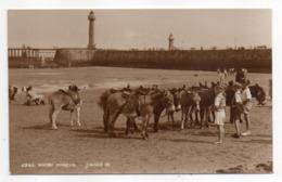 U-K -- WHITBY  -- Donkeys On The Beach (très Animée, Enfants, ânes, Phares) - Whitby