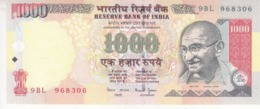 INDIA 1000 RUPEES 2000 P-94a SIG/ 88 WITHOUT LETTER  UN DATED AU/UNC */* - India
