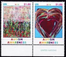 UNO-New York, 2012,  1302/03,  MNH **,   Autismus Besser Verstehen. - New-York - Siège De L'ONU