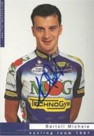 CARTE CYCLISME MICHELE BARTOLI SIGNEE TEAM MG - TECHNOGHYM 1997 - Ciclismo