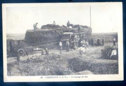 Cpa Du 35 Cherrueix Le Battage Du Blé  LZ83 - Sonstige Gemeinden