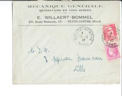 Entête Sur Enveloppe. Mécanique Générale. Réparations En Tous Genres. E. Willaert Bommel. Petite Synthe. 1947. - France
