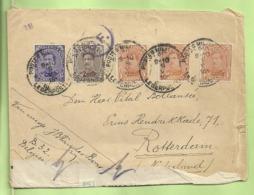 135+136+139 Op Brief PMB -> Rotterdam (Holland) Strookje CENSURE MILITAIRE 19 + CENSUUR + C.F.(Folkestone) (B1867) - Army: Belgium