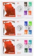 FDC France 1997 - Marianne Du 14 Juillet - Série Du YT 3086 à 3099 - Paris - FDC