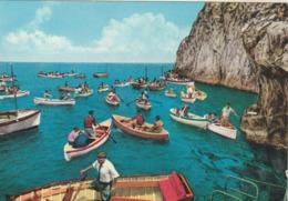 Rare Cpa Capri La Grotte Bleue  Très Animée - Italy